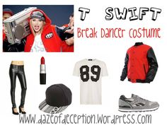 A costume inspiration board for Taylor Swift's Shake It Off Video- Break Dancer from www.dazeofdeception.wordpress.com Taylor Swift Costume, Taylor Swift Concert, Dress Up Costumes, Costume Ideas, 1989 Tour, Swift 3, Twin Brothers, Character Costumes, Shake It Off