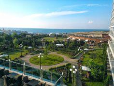 Coffee break  and nice view towards Aquamarine's garden and Black sea