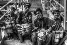 """Emerson Baluyot I got more interested to taking pictures since college, which made me decide to take a 6-month photography training. I am currently working as a photographer at Crimson Shot Photo and Video Services.""""BADJAO STREET DRUMMERS"""" is a story of children who were victims of war in Zamboanga, Philippines. To escape death, they come here in Marikina, making use of recycled materials as their weapon not only to earn money, but also to create MUSIC."""