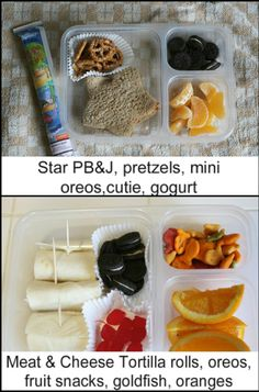 school lunch ideas!  I could actually do these ones.
