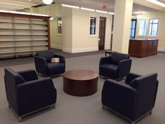 Nashville Public Library (Nashville, TN) Swift lounge seating and table in collaborative/open space. #NationalOffice #FurnitureWithPersonality