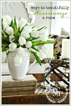stonegable 5 WAYS TO BEAUTIFULLY ACCESSORIZE A ROOM http://www.stonegableblog.com/5-ways-beautifully-accessorize-room/ via bHome https://bhome.us