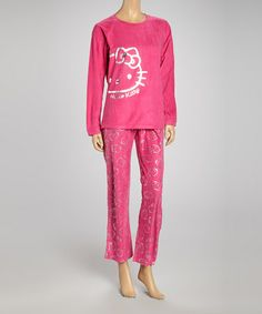 abf2c555fd7d Hello Kitty Pink   Silver Hello Kitty Pajamas - Women