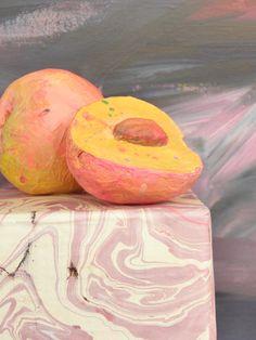 Seeligkeitssachen, Pfirsiche aus Papiermaché, #peaches #papermache #pfirisch #kunstwerk #handarbeit
