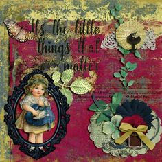 Mulberry Wine by Lavender Designs  https://www.e-scapeandscrap.net/boutique/index.php?main_page=product_info&cPath=113_208&products_id=17056      #digiscrap #digitalscrapbooking #layout #digitalscrapbooklayout #vintage #lavenderdesigns #littlethings