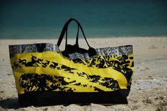 Beach Bag (XL) made out of recycled kitesurf sail