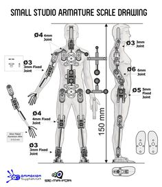 Small Studio Armature - Ready-made Stop Motion Armature from Animation Supplies