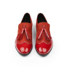Heschung red loafers