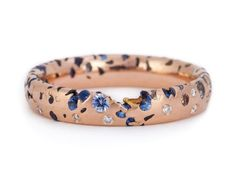 """wasbella102: """" Blue Ombré Confetti Ring – Polly Wales """""""