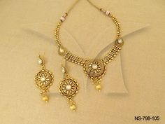 NS-798-105 || Style To Improve Golden Antique Necklaces