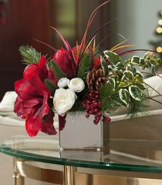 red flowers table decoration ideas organza bow