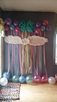 Reagan's unicorn birthday party