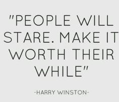 "Karen Cox. The Millionairess of Pennsylvania: ""People will stare. Make it worth their while"" Harry Winston."