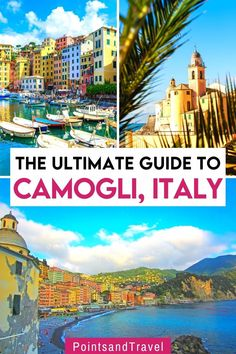 The Ultimate Guide to Camogli, Italy. Camogli is like a slice of the Riviera from decades ago before the designer stores came to line seaside promenades. It is an exquisite village with a perfectly places seafront rimmed with wonderfully colored palazzi and houses. Here's everything you need to know about Camogli, Italy. Camogli Italy Beaches | Camogli Italy Travel | Italy Travel Tips, Rome Travel, Europe Travel Guide, Travel Guides, Rome Italy Attractions, Italy Destinations, Beautiful Places To Visit, Cool Places To Visit, Things To Do In Italy