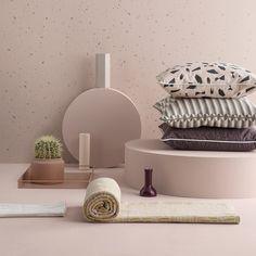 Ferm Living Confetti Wallpaper - Rose