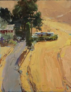 Randall Sexton, The Steep Drive, oil on panel, 18 x 14 Inches, 2013