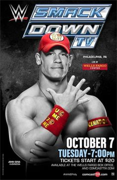 John Cena in red and yellow.