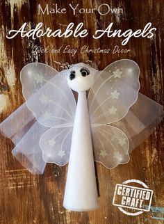 quick and easy christmas angels to brighten up your decor