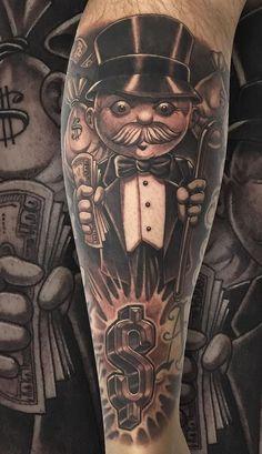 Chicanas Tattoo, Money Tattoo, Forarm Tattoos, Cool Arm Tattoos, Tattoos Skull, Black Tattoos, Tattoos For Guys, Tattos, Tiger Tattoo Sleeve
