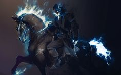 Sword and Sorcery | Horses Riding Skull Fire Swords And Sorcery Artwork Wide #49990 HD ...