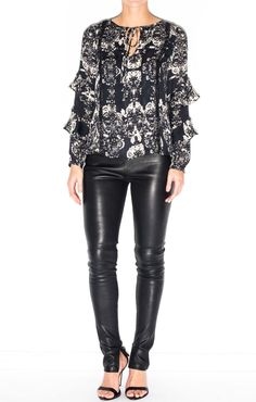 PARKER- Cole Top Leather Pants, Tops, Fashion, Leather Jogger Pants, Moda, La Mode, Leather Joggers, Shell Tops, Fasion
