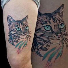 Tattoo de Gato. Pensei em fazer uma do Hyoga, outra do Dimmy, outra do Tommy e se bobear uma da Creiqui! kk