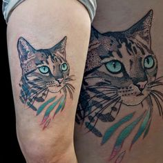 Beautiful eyes for the kitty cat of Veronika, Tribo Tattoo.