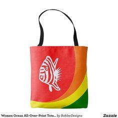 Women Ocean All-Over-Print Tote Bag