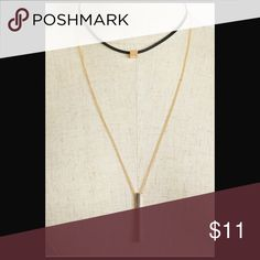 Chocker double layer necklace BUNDLE AND SAVE WITH OVER 100 STYLES TO CHOOSE FROM Just in. Right on trend for fall. CupofTea Jewelry Necklaces