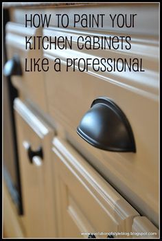 """I should send this to the """"professional"""" that painted my cupboards.  In less than a year, the paint was coming off behind the knobs.  Ugh!  I need to repaint them."""