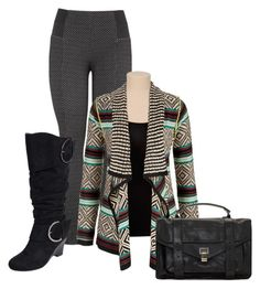 """""""Untitled #3401"""" by nanette-253 ❤ liked on Polyvore featuring moda, maurices, Journee Collection y Proenza Schouler"""