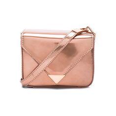 Alexander Wang Mini Prisma Envelope Crossbody ($555) ❤ liked on Polyvore featuring bags, handbags, shoulder bags, purses crossbody, mini shoulder bag, man bag, mini crossbody purse and shoulder handbags