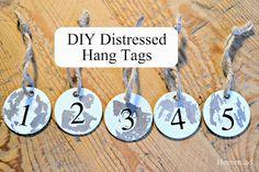 Distressed Metal Hang Tags www.homeroad.net
