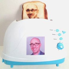 Let's eat a selfie! Once you order this magnificent toaster, please send the photo of your choice to Fancy Customer Service at cs@fancy.com. A team member will be in touch to ensure the quality of your photo. Keep in mind: -The larger the image is, the better.  -Photos must be larger than 150k (72 dpi). -Please note that the toaster only accomodates one photograph and only up to 2 faces per photograph. Although you may have a collection of selfies, please only submit one photo, with no more…