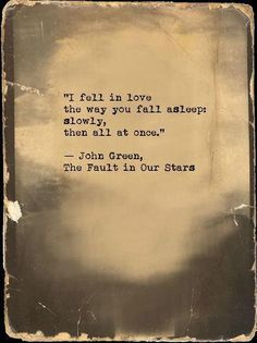 The Fault in Our Stars...Great book!
