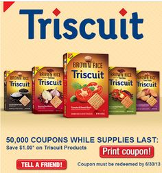 Central Coast Couponista: Vons: Brown Rice Triscuit Only $.88 each + $1.24 Smuckers Jam!