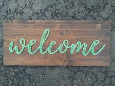 Welcome String Art