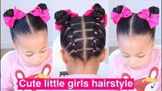 Rubber Band Hairstyles, Cute Bun Hairstyles, Cute Toddler Hairstyles, Cute Little Girl Hairstyles, Cute Hairstyles For Kids, Baby Girl Hairstyles, Little Girls Natural Hairstyles, Natural Hair Styles, Long Hair Styles
