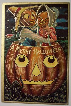 Vintage Halloween Postkarte Sanders - nightmare before xmas :) - Halloween Retro, Victorian Halloween, Vintage Halloween Images, Halloween Prints, Halloween Pictures, Holidays Halloween, Spooky Halloween, Happy Halloween, Halloween Ideas
