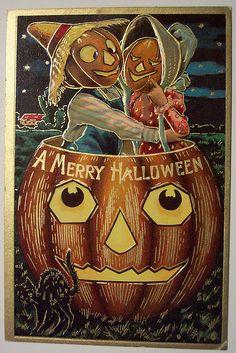 Vintage Halloween Postcard     Sanders by riptheskull, via Flickr