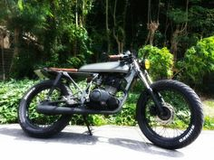 skyteam ace 125 brat style cafe racer