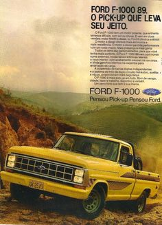Propaganda da Ford F-1000 em 1989.