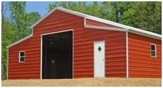 Find inexpensive steel barns, garages, carports and RV shelters in a variety of styles and sizes at AlansFactoryOutlet.com