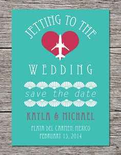 15 Destination Wedding Hacks you can't afford to pass up - especially loving this DIY destination wedding invitation