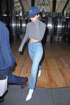 Kendall Jenner In Denim Out In New York