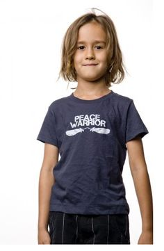 Peace Warrior kids t-shirt. Oh, we love this.