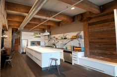 BEAMS - THOUGHT WHAT ABOUT EXPOSING THE PIPES AND HEADS OF THE SPRINKLERS? Industrial Kitchen Designs-36-1 Kindesign