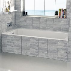 Fine Fixtures Drop In or Alcove 32 x 60 Soaking Bathtub Tub Shower Combo, Bathtub Shower, Bathtub Drain, Bad Inspiration, Bathroom Inspiration, Bathroom Ideas, Bathroom Designs, Bathroom Tubs, Small Bathrooms