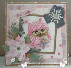 Craft Projects, Projects To Try, Christmas Cards, Xmas, Diy And Crafts, Paper Crafts, 3d Cards, Marianne Design, Winter Cards