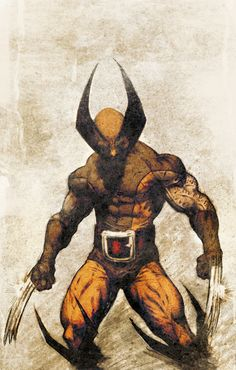 Wolverine, classic 80's costume.